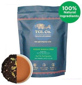TGL Co.Kadak Masala Chai Tea Black Tea with Black CTC Tea Cardamom Ginger Cloves 100g