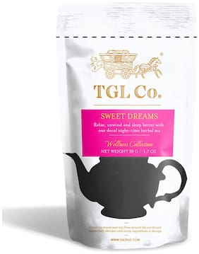 TGL Co. Sweet Dreams Chamomile Tea Caffeine Free Calming Tea,Relieves Soothing Sleep Tea for Stress and Anxiety 50g (Pack Of 1)