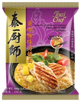 Thai Chef Instant Noodles - Yellow Curry Flavour  Oriental Style 100 g