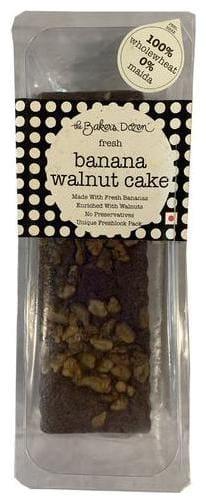 The Baker's Dozen Banana Walnut Cake - 100% Wholewheat 300g
