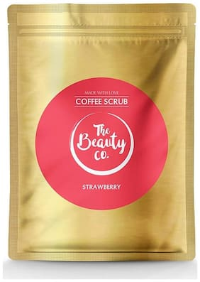 The Beauty Co Strawberry Coffee Scrub For Face & Body 100 gm