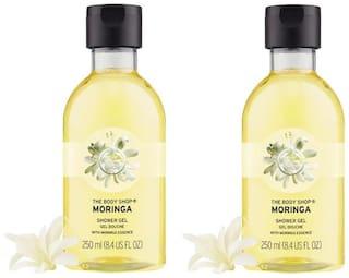 The Body Shop Moringa Shower Gel Combo 250ml (Pack of 2)
