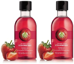 The Body Shop Strawberry Gel Combo 250ml (Pack of 2)