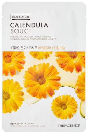 The Face Shop Real Nature Calendula Face Mask (20g) Pack of 1