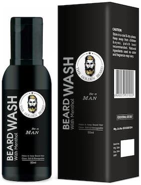 THE GOLDEN BEARD Beard Wash (With Aloevera & Menthol) - (50 ml)