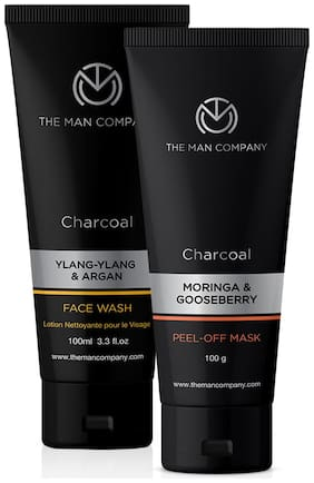 The Man Company Peel Off Mask 100 g, Facewash 100 ml (Pack of 2)