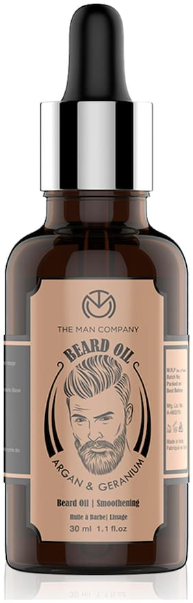 The Man Company Oil for Beard and Moustache Nourishment - 30 ml (Argan and Geranium)