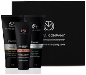 The Man Company Face Wash, 100 ml, Face Scrub 100 g, Sunscreen Lotion 59 ml (Pack of 3)