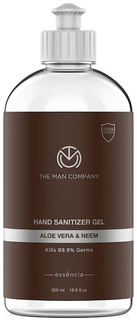 The Man Company Hand Sanitizer Gel (72.5 % Alcohol) with Aloe Vera & Neem 500ml Pack of 1 (Type C)
