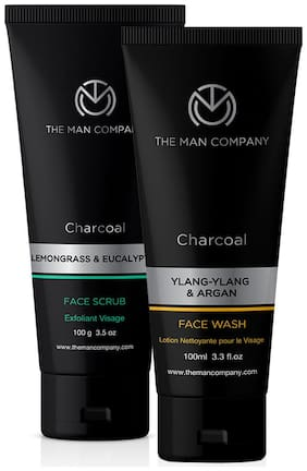 The Man Company Face Wash 100 ml, Scrub 100 g (Pack of 2)