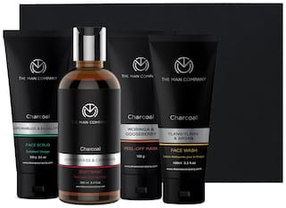 THE MAN COMPANY Body wash 250 ml, Face wash 100 ml, 100 g Peel off Mask, Face Scrub 100g (Pack of 4)