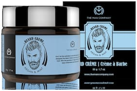 The Man Company Moustache Beard Cream for Smoothening (50g)-Argan & Mint