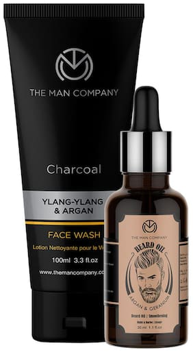 The Man Company Beard Oil 30 ml, Face Wash 100 ml (Pack of 2)