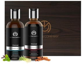 The Man Company Activated Charcoal Combo Pack for Men -Pack of 2( 250 ml body wash, 250 ml shampoo)