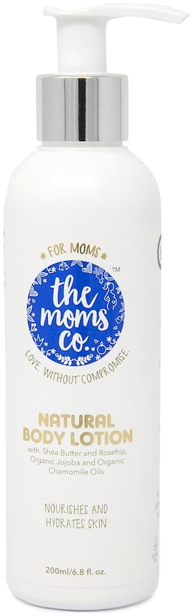The Moms Co. Natural Baby Lotion with USDA-Certified Organic Apricot;Organic Jojoba and Organic Rice Bran Oils - 200ml Pack of 1