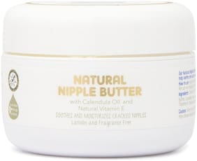 The Moms Co. Natural Nipple Butter Cream for Breastfeeding Moms 25g (Pack of 1)