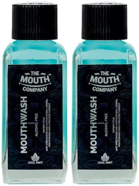 The Mouth Company Mouthwash Cool Mint 100ml - Pack of 2