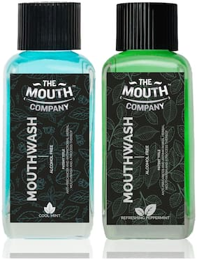 The Mouth Company Cool Mint and Peppermint Mouthwash Combo - 100ml