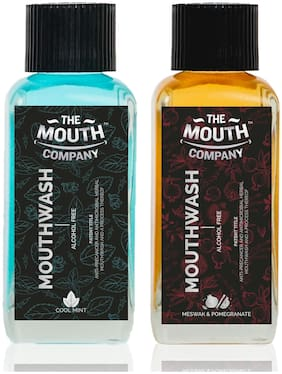 The Mouth Company Meswak-Pomegranate  and Cool Mint Mouthwash Combo - 100ml