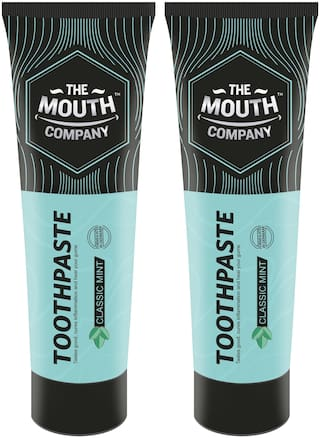 The Mouth Company Toothpaste Classic Mint 50g - Pack of 2