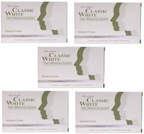 The origin Classic white Twin Whitening System Soaps -75g( Pack of 5 )