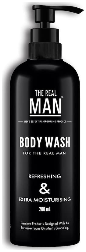 The Real Man Body Wash 100% Organic Body Wash for Refreshing and Extra Moisturising  200ml