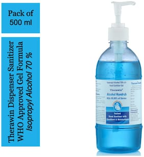 Therawin-IPA Alochol Based Hand Sanitizer Dispenser 500 ml(Pack of 1)