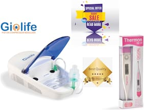 Thermocare Gio-life Piston Compressure Nebulizer With Complete Kit+Digital Thermometer