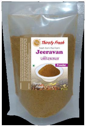 Thirsty Fresh Jeeravan Powder - Premium 100 g each (Pack of 4)