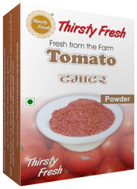 Thirsty Fresh Tomato Powder - Dehydrated  100 g each  (Pack of 4)