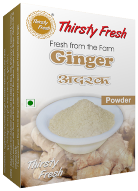 Thirsty Fresh Ginger Powder - Dehydrated 100g each(Pack of 4)