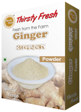 Thirsty Fresh Ginger Powder   Dehydrated Ready To Use For Kitchen (500g, Pack of 5x100g)