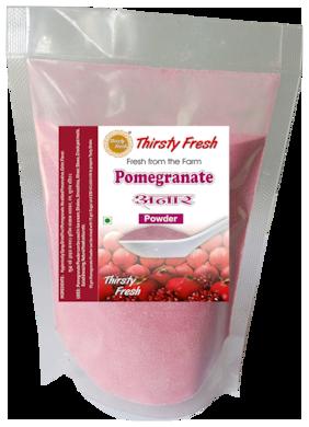 Thirsty Fresh Pomegranate Powder - Spray Dried 100g Each (Pack of 4)