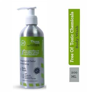 Thyme Organic Bergamot & Cedar Revitalising Body Wash with Vitamin B5- Toxic Chemical Free 200ml