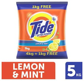 Tide Detergent Washing Powder - Lemon & Mint  Extra Power  Tide+ 5 kg