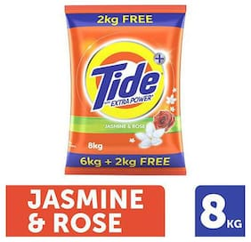 Tide Detergent Washing Powder - Jasmine & Rose  Extra Power  Tide+ 8 kg