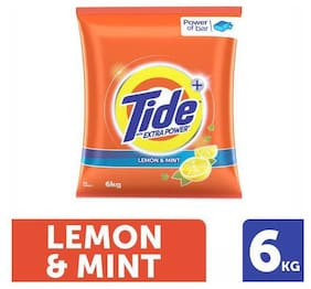 Tide Plus Detergent Washing Powder - Extra Power Lemon & Mint 6 kg