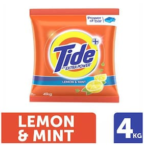 Tide Plus Detergent Washing Powder - Extra Power Lemon & Mint 4 kg