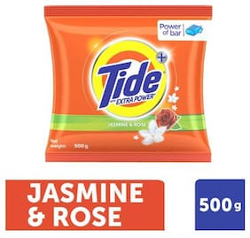 Tide Plus Detergent Washing Powder - Extra Power Jasmine & Rose 500 g
