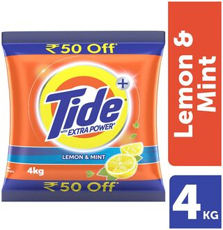 Tide + With Extra Power Lemon & Mint Detergent Washing Powder - 4 kg Pack (Rs. 50/- off)