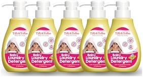 Tiffy & Toffee Baby Laundry Detergent with In-Built Germicide and Softener, 200 ml (Pack of 5)