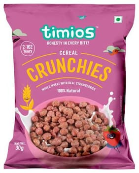 Timios Breakfast Cereals - Crunchies  100% Natural & Healthy 30 g