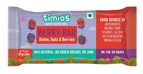 Timios Energy Bars  Berry 100% Natural & Healthy 30 g