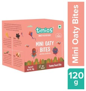 Timios Mini Oaty Bites - Nuts & Berries, 18+ months 120 g