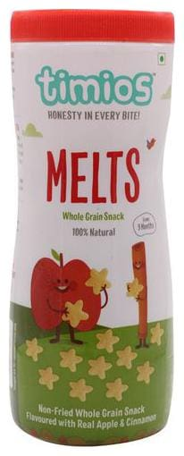 Timios Snacks - Melts, Apple & Cinnamon, 9+ Months, 100% Natural & Healthy 50 gm