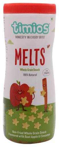 Timios Snacks - Melts, Apple & Cinnamon, 9+ Months, 100% Natural & Healthy 50 g