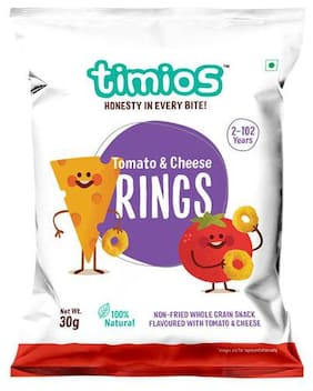 Timios Snacks - Rings  Tomato & Cheese 100% Natural & Healthy 30 g