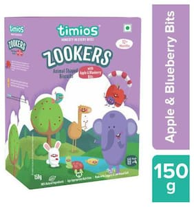 Timios Zookers - Apple & Blueberry Bits, 12+ months 150 g