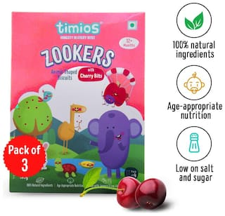 Timios Zookers Cherry Bits  450 g (Pack of 3)