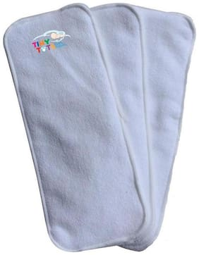 Tinytots Baby Microfibre Inserts for Cloth Diaper - 3 Layered - Pack of 3
